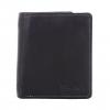 กระเป๋าสตางค์ผู้ชาย ทรงตั้ง ใช้ง่าย ใส่กระเป๋าหลังได้พอดี รุ่น Less But More Ep.08 สีดำ