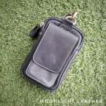 กระเป๋าใส่โทรศัพท์ ร้อยเข็มขัด หนังแท้ รุ่น Belta II สีดำ