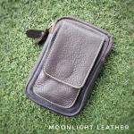 กระเป๋าใส่โทรศัพท์ ร้อยเข็มขัด หนังแท้ รุ่น Belta I สีน้ำตาลเข้ม