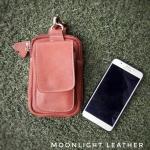 กระเป๋าใส่โทรศัพท์ ร้อยเข็มขัด หนังแท้ รุ่น Belta II สีแทน