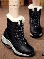 รองเท้าบูท ลุยหิมะ ใส่เที่ยวหน้าหนาว (สีดำ )