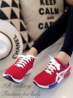 รองเท้าผ้าใบ เพื่อสุขภาพ สไตล์โอนิสุกะ (สีแดง )