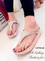 รองเท้าแตะ เพื่อสุขภาพ แบบคีบ สไตล์ฟิตฟลอป (สีทอง )