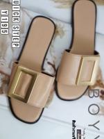 รองเท้าแตะผู้หญิงสีครีม งานชนช็อป BOYY (สีครีม )