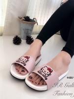 รองเท้าแตะผู้หญิง แบบสวม ลายkitty (สีชมพู )