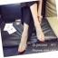 รองเท้าส้นตันสีดำ พียูใสไม่บาดเท้า แต่งเพชร (สีดำ ) thumbnail 3
