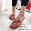 รองเท้าแตะลำลอง หนังลาย พื้นนิ่ม ตีแบรนด์Hermes (สีน้ำตาล ) thumbnail 3