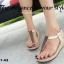 รองเท้าลำลองรัดส้น แบบคีบ (สีทอง ) thumbnail 3