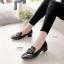 รองเท้าคัทชู หนังแก้ว สไตล์MIUMIU (สีดำ ) thumbnail 2