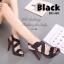 รองเท้าส้นสูง รัดส้น สายคาดไขว้ (สีดำ ) thumbnail 5