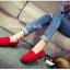 รองเท้าหุ้มส้น ส้นเตี้ย หนังกำมะหยี่ (สีแดง ) thumbnail 2