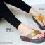 รองเท้าแตะเพื่อสุขภาพ หูหนีบ เปิดส้น แต่งคริสตัล (สีน้ำน้ำตาล ) thumbnail 3