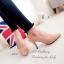 รองเท้าคัทชู ส้นสูง หัวแหลม หนังกลับ (สีครีม ) thumbnail 4