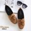 รองเท้าคัทชูส้นเตี้ย แบบผูกเชือก สักหราดนิ่ม ดูดีมีสไตล์ (สีน้ำตาล ) thumbnail 3