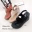 รองเท้าส้นเตารีดรัดส้นสีดำ Style Brand Chanel (สีดำ ) thumbnail 5