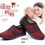 รองเท้าคัทชูเสริมส้น วัสดุผ้านิ่ม ใส่สบายเท้า ดีไซน์ทันสมัย (สีแดง ) thumbnail 4
