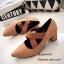รองเท้าคัทชู ส้นตัน หัวแหลม หนังกลับ (สีแทน ) thumbnail 2
