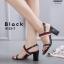 รองเท้าส้นตันรัดส้นสีดำ ทรง Maxi สายคาดยางยืด (สีดำ ) thumbnail 1