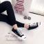 รองเท้าผ้าใบ แบบผูกเชือก สไตล์Jack-purcell (สีดำ ) thumbnail 2