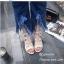 รองเท้าแตะรัดส้นสีครีม พันข้อ เส้นสานหน้า (สีครีม ) thumbnail 5