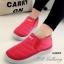 รองเท้าผ้าใบผู้หญิง กันหนาว บุขน (สีชมพู )