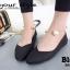 รองเท้าคัทชูส้นเตี้ยสีดำ หน้าวี สไตล์ GUCCI (สีดำ ) thumbnail 3