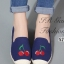 รองเท้าผ้าใบผู้หญิง ขอบเชือกปอ สไตล์โบฮีเมี่ยน (สีกรม ) thumbnail 2
