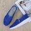 รองเท้าผ้าใบลูกไม้สีน้ำเงิน พื้นสุขภาพ ผ้าลูกไม้โปร่งใส่สบาย (สีน้ำเงิน ) thumbnail 2