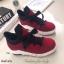 รองเท้าผ้าใบหุ้มข้อ แบบผูกเชือก (สีแดง ) thumbnail 3