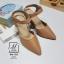 รองเท้าคัทชูรัดข้อสีน้ำตาล หัวแหลม เปิดส้น (สีแทน ) thumbnail 3