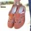 รองเท้าคัทชู สไตล์สุภาพ หนังนิ่ม (สีส้ม ) thumbnail 3