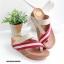 รองเท้าแตะเพื่อสุขภาพ สไตล์ลำลอง หูหนีบ เสริมพื้น (สีครีม ) thumbnail 3