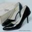 รองเท้าส้นสูงทรงหัวแหลม เว้าข้าง (สีดำ ) thumbnail 4