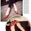 รองเท้าคัทชูหัวแหลม สไตล์Roger-Viewer แต่งหัวเข็มขัดสีเงิน (สีแดง ) thumbnail 5