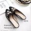 รองเท้าส้นเตี้ย หัวแหลม เปิดส้น ปักลายดอกไม้ (สีดำ ) thumbnail 5