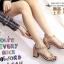 รองเท้าส้นตันรัดข้อสีครีม T-Strap สไตล์ VALENTINO (สีครีม ) thumbnail 2