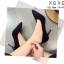 รองเท้าคัทชูส้นเข็มสีดำ หัวแหลม หนังสักราจ (สีดำ )