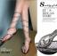 รองเท้าแตะพันข้อสีเงิน ลายงูประดับเพชร สไตล์ gladiater (สีเงิน ) thumbnail 5