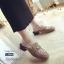 รองเท้าส้นเตี้ยเปิดส้นสีกากี หัวตัด Style Gucci (สีกากี ) thumbnail 1
