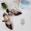 รองเท้าคัทชูส้นสูงสีดำ หัวแหลม เว้าข้าง (สีดำ ) thumbnail 5