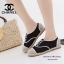รองเท้าผ้าใบผู้หญิง ผ้าแคนวาส เพิ่มความเก๋ด้วยเชือกปอถัก STYLE CHANEL (สีดำ ) thumbnail 4