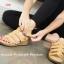 รองเท้าส้นเตารีดรัดส้น แนวญี่ปุ่น (สีแทน ) thumbnail 2