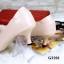 รองเท้าคัทชู ส้นสูง หัวแหลม ซับในกำมะหยี่นิ่ม (สีชมพู ) thumbnail 2