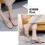 รองเท้าคัทชูเปิดส้นสีชมพู สไตล์สวม หนังแก้ว (สีชมพู ) thumbnail 3