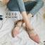 รองเท้าส้นเตี้ยหัวแหลมสีชมพู น้ำหนักเบา ประดับเพชร (สีชมพู ) thumbnail 2