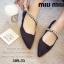 รองเท้าคัทชู ส้นเตี้ย หัวแหลม สายคาดเพชร (สีดำ ) thumbnail 6