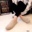 รองเท้าผ้าใบ แบบสวม หนังกลับ รุ่นขายดี (สีครีม ) thumbnail 3