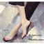 รองเท้าส้นตันเปิดส้นสีดำ สไตล์ลำลอง พียูใสไม่บาดเท้า (สีดำ ) thumbnail 4