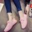 รองเท้าผ้าใบแฟชั่นสีชมพู ผ้าตาข่าย แนวสอร์ต (สีชมพู )