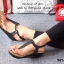 รองเท้าลำลองรัดส้น แบบคีบ (สีดำ ) thumbnail 4